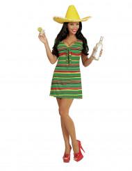 Déguisement robe mexicaine femme