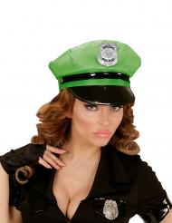 Casquette police verte adulte
