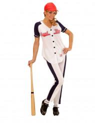 Déguisement joueuse baseball femme