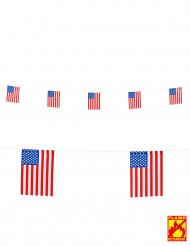 Guirlande drapeaux USA 15 X 20 cm