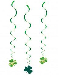 3 Décorations à suspendre spirales St Patrick