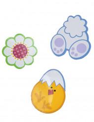 24 décorations cartonnées Pâques