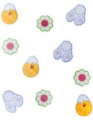 24 Confettis de table en carton Pâques