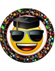 8 Assiettes en carton Emoji™