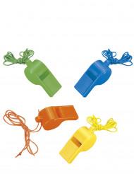 4 sifflets colorés