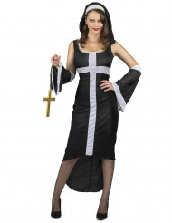 Déguisement nonne sexy croix blanche femme