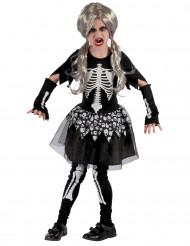 Déguisement Squelette vivantfille