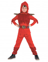Déguisement ninja royal rouge garçon