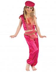 Déguisement danseuse orientale rose et or fille