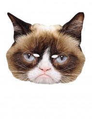 Masque carton chat grognon