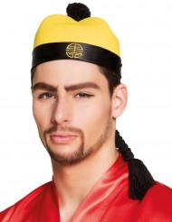Chapeau chinois avec tresse adulte