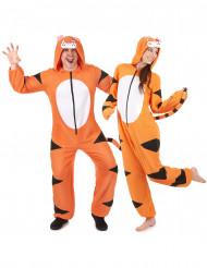 Déguisement de couple combinaison capuche tigre