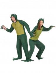 Déguisement de couple combinaison capuche grenouille