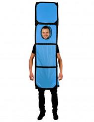 Déguisement Tetris™ bleu forme I adulte Morphsuits™