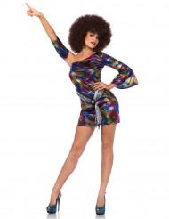 Déguisement holographique multicolore sexy femme