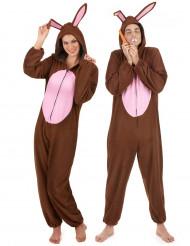 Déguisement de couple lapin marron