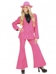 Déguisement costume rose femme