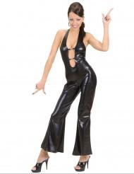 Déguisement combinaison disco noire sexy femme
