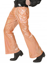 Pantalon disco holographique orange homme