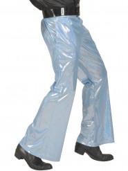 Pantalon disco holographique bleu homme