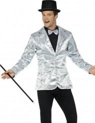 Veste disco argent à sequins luxe homme
