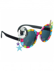 Lunettes disco multicolores adulte