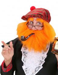 Béret avec perruque et barbe écossais adulte