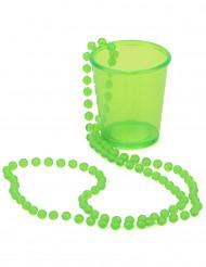 Collier shooter vert Saint Patrick