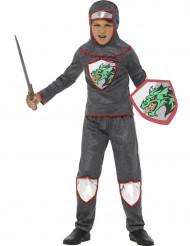 Déguisement chevalier au dragon en armure garçon