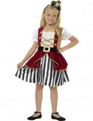 Déguisement miss pirate fille