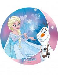 Disque Elsa et Olaf azyme La Reine des Neiges™ 20 cm