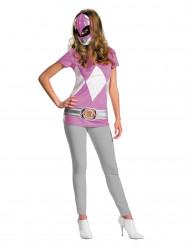 Déguisement t-shirt Power Rangers™ Rose femme