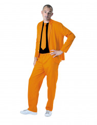 Costume fashion orange fluo adulte
