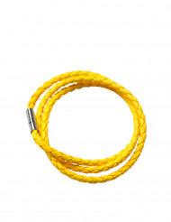 Bracelet tressé jaune fluo adulte