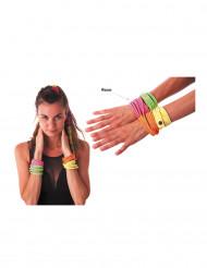 Bracelet fashion rose fluo adulte