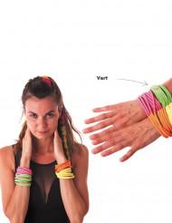 Bracelet fashion vert fluo adulte