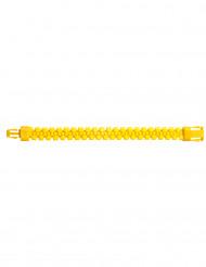 Bracelet zip jaune adulte