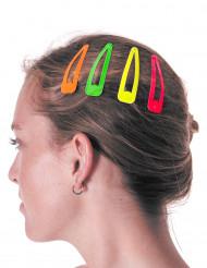 4 Barrettes à cheveux colorées