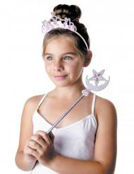 Diadème et baguette princesse étoilée fille