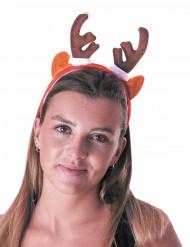 Serre-tête renne avec grelots adulte Noël