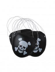 6 Cache-oeil pirate plastique