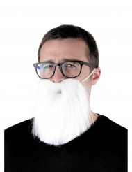 Barbe hipster blanche adulte