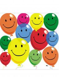 12 Serviettes en papier Smile 33 x 33 cm