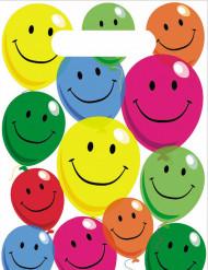 6 Sachets de fête en plastique Smile 22,5 x 15,5 cm