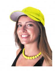 Casquette sport à sequins jaune adulte