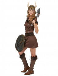 Déguisement Viking Sexy marron Femme