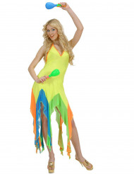 Déguisement danseuse brésilienne fluo jaune femme