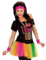 Tutu multicolore fluo court femme