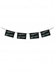 Guirlande happy birthday noir et blanc 4.50 m