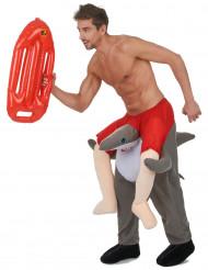 Déguisement homme à dos de requin adulte